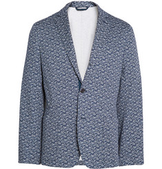 Ovadia & Sons Unstructured Palm-Print Cotton Blazer
