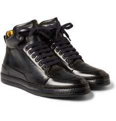 Berluti - Playtime Leather High Top Sneakers