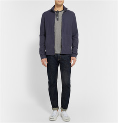 James Perse Striped Cotton and Cashmere-Blend Henley T-Shirt