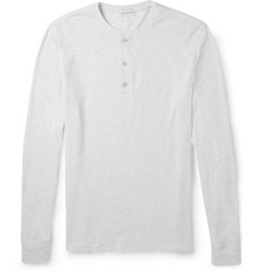 Club Monaco Waffle-Knit Cotton-Blend Henley T-Shirt