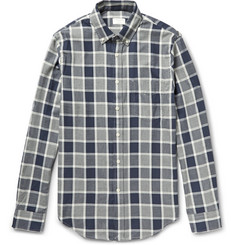 Club Monaco Button-Down Collar Checked Cotton Shirt