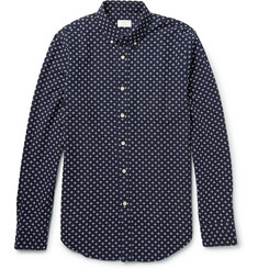 Club Monaco Button-Down Collar Embroidered Cotton Shirt