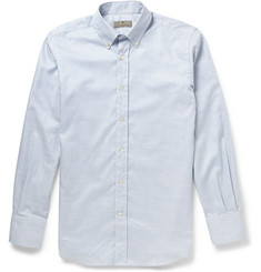 Canali Striped Button-Down Cotton Shirt