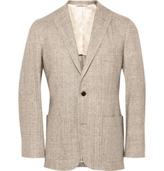 Freemans Sporting Club Slim-Fit Woven Silk Blazer