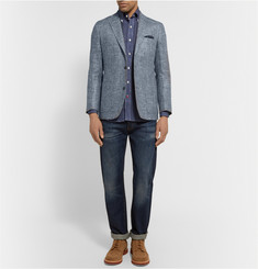 Freemans Sporting Club Slim-Fit Slub Silk and Linen-Blend Blazer