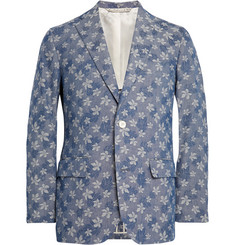 Freemans Sporting Club Slim-Fit Hawaiian Denim-Jacquard Blazer