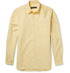 Freemans Sporting Club Yellow Cotton Oxford Shirt