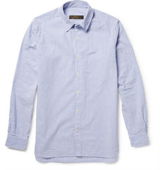 Freemans Sporting Club Slim-Fit Striped Cotton-Seersucker Shirt
