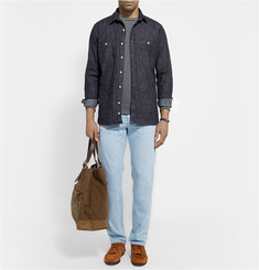 Freemans Sporting Club Crinkled Denim Shirt