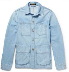 Freemans Sporting Club Washed-Denim Chore Jacket