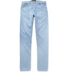 Freemans Sporting Club Slim-Fit Washed-Denim Jeans