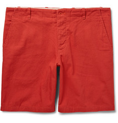 Freemans Sporting Club Red Slim-Fit Cotton-Canvas Shorts