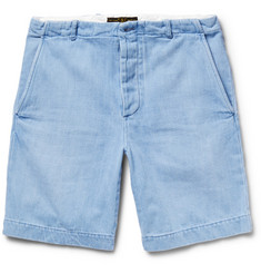 Freemans Sporting Club Slim-Fit Washed-Denim shorts