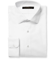 Freemans Sporting Club White Slim-Fit Cotton-Piqué Shirt