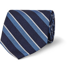 Freemans Sporting Club Striped Silk-Twill Tie