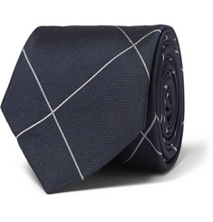 Freemans Sporting Club Windowpane-Checked Silk Tie