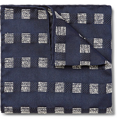 Marwood Slubbed Silk-Jacquard Pocket Square