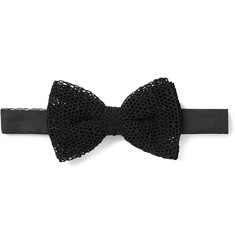 Marwood Cotton Mesh Lace Bow Tie