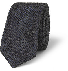 Marwood Net-Overlaid Silk Tie