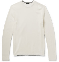 Theory Savaro Waffle-Knit Cotton Sweater