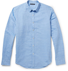 Theory Zack Linen and Cotton-Blend Shirt