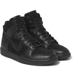 Nike TZ Dunk Faux-Shearling Lined Leather Sneakers