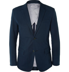Hentsch Man Ollie Slim-Fit Seersucker Cotton-Blend Blazer