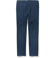 Hentsch Man Slim-Fit Textured Cotton-Blend Trousers