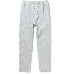 Hentsch Man Tapered Striped Cotton-Blend Trousers