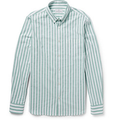 Hentsch Man Button-Down Collar Striped Cotton Shirt