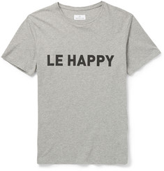 Hentsch Man Le Happy Printed Cotton T-Shirt