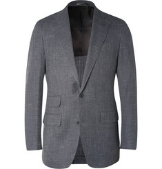 Thom Sweeney Grey Curzon Slim-Fit Wool Blazer