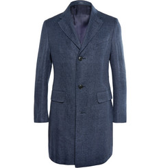 Thom Sweeney Maddox Textured-Knit Overcoat