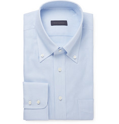 Thom Sweeney Blue Cotton Oxford Shirt