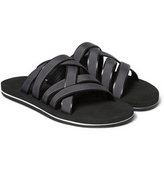 Dan Ward Grosgrain-Trimmed Leather Sandals