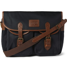 Polo Ralph Lauren Leather-Trimmed Canvas Messenger Bag