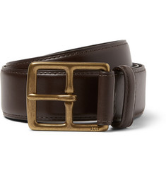 Polo Ralph Lauren Dark Brown 3.5cm Heritage Leather Belt