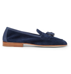 Edward Green Portland Tasselled Suede Loafers