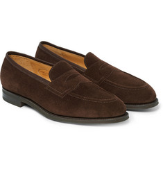 Edward Green Picadilly Suede Penny Loafers