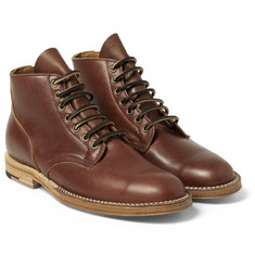 Viberg Leather Lace-Up Boots