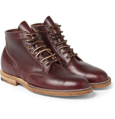 Viberg - Leather Lace-Up Boots
