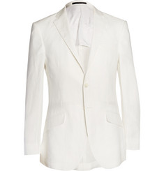Richard James Off-White Slim-Fit Linen Suit Jacket