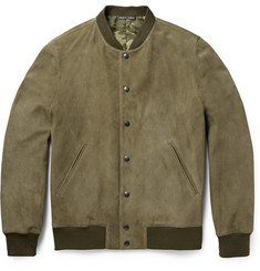 Richard James Suede Bomber Jacket