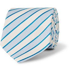 Richard James Striped Silk and Linen-Blend Tie