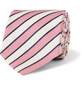 Richard James - Striped Silk and Linen-Blend Tie