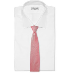 Richard James Silk and Linen-Blend Tie
