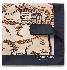 Richard James Printed Silk Pocket Square