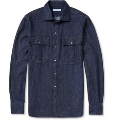 Richard James Herringbone Cotton Shirt
