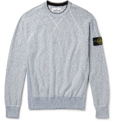 Stone Island Loopback Cotton-Blend Sweatshirt