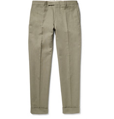 Gant Rugger Tapered Cotton and Linen-Blend Canvas Trousers